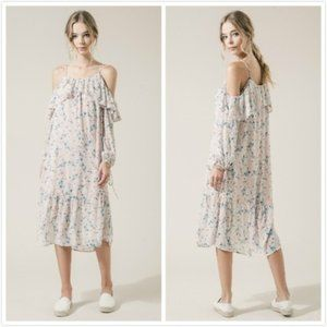 NWT Anthropologie Moon River Cold Shoulder Dress